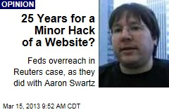 25 Years for a Minor Hack of a Website?