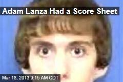 Adam Lanza Had a Score Sheet