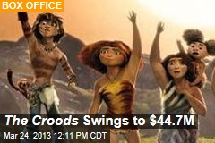 The Croods Swings to $44.7M