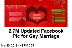 Millions Update Facebook Pic for Gay Marriage