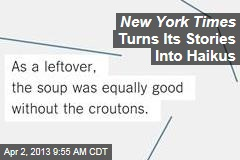 New York Times Turns Its Stories Into Haikus