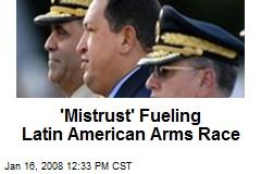 'Mistrust' Fueling Latin American Arms Race