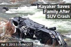 Kayaker Saves Family After SUV Crash
