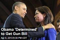 Obama 'Determined' to Get Gun Bill