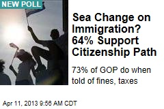 Sea Change on Immigration? 64% Support Citizenship Path