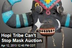 Hopi Tribe Can't Stop Mask Auction