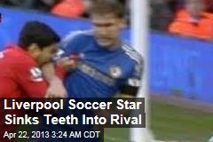 Liverpool Soccer Star Sinks Teeth Into Rival