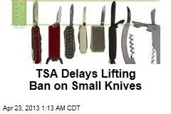 TSA Delays Lifting Ban on Small Knives