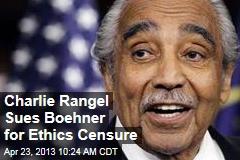 Charlie Rangel Sues Boehner for Ethics Censure