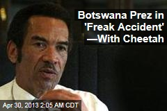 Cheetah Claws Botswana President's Face