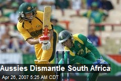 Aussies Dismantle South Africa