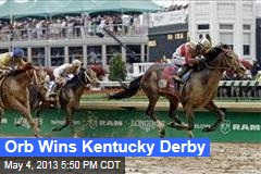 Orb Wins Kentucky Derby