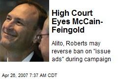 High Court Eyes McCain- Feingold