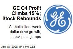 GE Q4 Profit Climbs 15%; Stock Rebounds