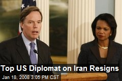 Top US Diplomat on Iran Resigns