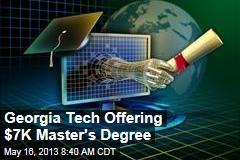 Georgia Tech Offering $7K Master's Degree
