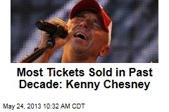 Most Tickets Sold in Past Decade: Kenny Chesney