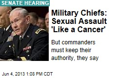 Military Chiefs: Sexual Assault 'Like a Cancer'