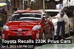 Toyota Recalls 233K Prius Cars