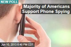 Majority of Americans Support Phone Spying