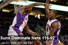 Suns Dominate Nets 116-92