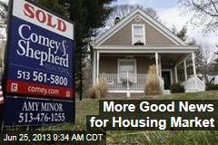 More Good News for Housing Market