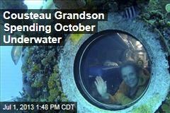 Cousteau Grandson Spending October Underwater