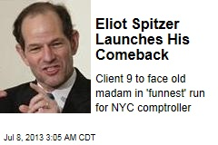 Spitzer Follows Weiner Back Into Politics