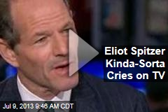 Eliot Spitzer Kinda-Sorta Cries on TV