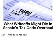 What Writeoffs Might Die in Senate's Tax Code Overhaul