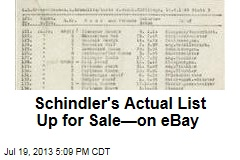 Schindler's Actual List Up for Sale—on eBay