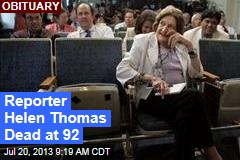 Reporter Helen Thomas Dead at 92
