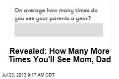 Revealed: How Many More Times You'll See Mom, Dad