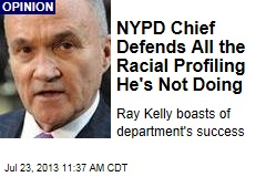 NYPD Chief Defends All the Racial Profiling He's Not Doing