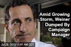 Amid Growing Storm, Weiner Dumped By Campaign Manager