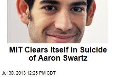 MIT Clears Itself in Suicide of Aaron Swartz
