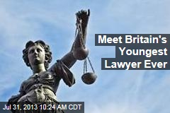 Meet Britain's Youngest Lawyer Ever