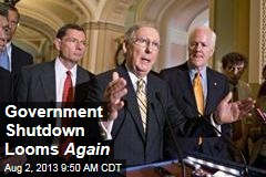 Government Shutdown Looms Again