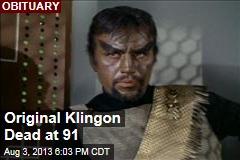 Original Klingon Dead at 91