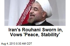 Iran's Rouhani Sworn in, Vows 'Peace, Stability'