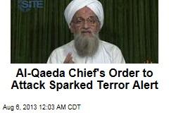 Al-Qaeda Chief's Message Sparked Terror Alert
