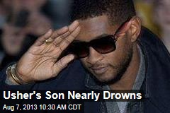 Usher's Son Nearly Drowns