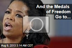 And the Medals of Freedom Go to...