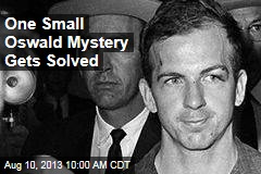 One Small Oswald Mystery Gets Solved