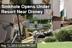 Sinkhole Opens Under Resort Near Disney