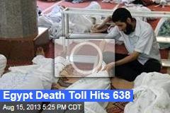 Egypt Death Toll Hits 638