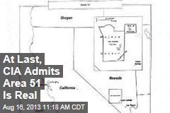 At Last, CIA Admits Area 51 Is Real