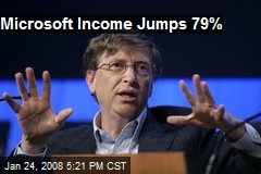 Microsoft Income Jumps 79%