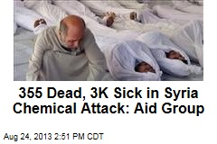 355 Dead, 3K Sick in Syria Chemical Attack: Aid Group