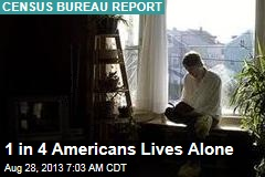 1 in 4 Americans Lives Alone